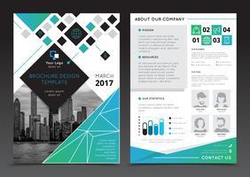 Modèles de brochure de rapport d'entreprise vecteur