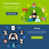 Conférence de presse sur les élections gouvernementales vecteur