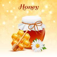 Concept de couleur de miel vecteur