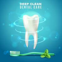 Affiche de fond sur les soins dentaires pour le nettoyage en profondeur vecteur
