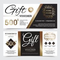 Coupon Cadeau Royal Design vecteur