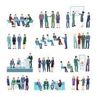 Ensemble de groupes de conférence réunion plat