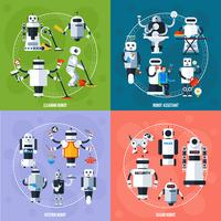 Concept de robots intelligents