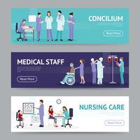 Bannières horizontales de soins médicaux