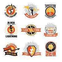 Ensemble emblème Lightning Logo vecteur