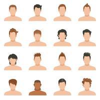 Set d'icônes de coiffure homme