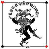 Illustration de fond de Joker vecteur