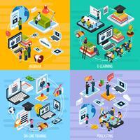 Webinaire Concept Icons Set vecteur