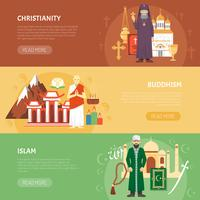 Bannière de confession de religion vecteur