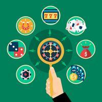Composition de ronds plats main Casino Roulette Icons