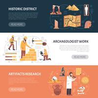 Illustration de bannières d'archéologie vecteur