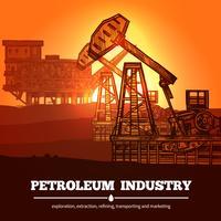 Concept de design de l'industrie pétrolière