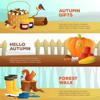 Bannières d'automne vecteur