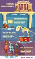 Illustration d'infographie de musée vecteur