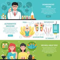 Bannières horizontales de médecine alternative