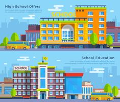Bannières plates d'école