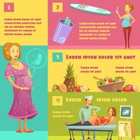 Affiche de style rétro de scènes de grossesse
