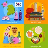 Culture coréenne 4 Place des icônes plates