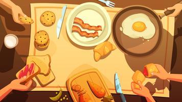 Petit déjeuner, table, vue