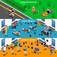Ensemble de bannières de gymnastique