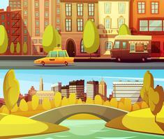 Bannières horizontales de New York vecteur