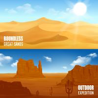 Bannières désertiques horizontales