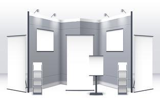 Modèle de stand d'exposition vecteur