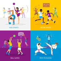 Concept de jeux de sport vecteur