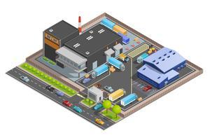 Composition isométrique de l'entrepôt