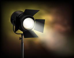 Spotlight fond flou sombre brumeux