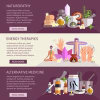 Bannières de médecine alternative