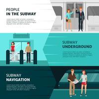 Bannières de personnes de métro