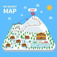 Plan de la station de ski vecteur