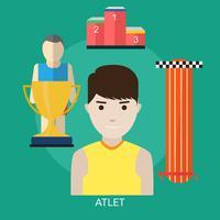 Athlète Illustration conceptuelle Design