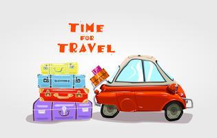 Voyage sur la route. Temps pour voyager.