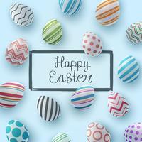 Joyeuses Pâques. Modèle d'oeuf réaliste.