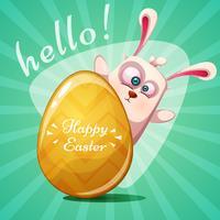 Rabbit princesse mignon. Joyeuses Pâques. vecteur
