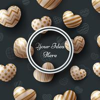 Coeur, vente, amour, Saint Valentin, joyeux anniversaire - modèle. vecteur