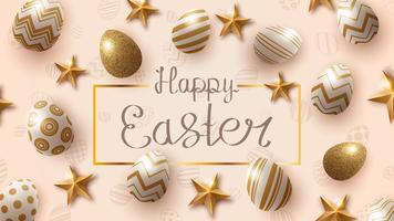 Modèle de Joyeuses Pâques vecteur