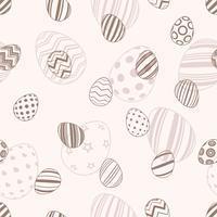 Joyeuses Pâques - motif d'oeufs sans soudure vecteur