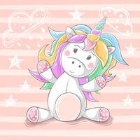 Licorne de nounours mignon - personnages de dessins animés.