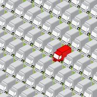 Fond de route isométrique