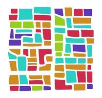 plan de ville multicolore vecteur