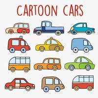 Croquis de voitures de bande dessinée