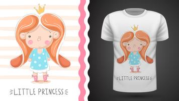 Tee-shirt petite princesse - idée d'impression vecteur