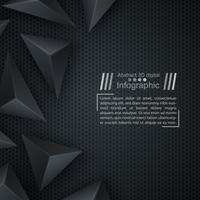 Modèle de papier d'affaires - fond d'origami. vecteur