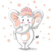 Illustration mignonne et drôle - personnages de dessins animés. vecteur