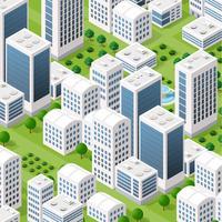 Architecture urbaine isométrique de vecteur