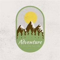 Logo d'aventure en plein air vecteur