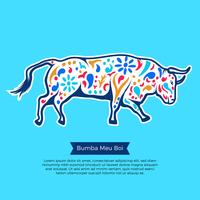 Illustration de Bumba Meu Boi Bull vecteur